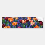Hyacinth Tulip Garden Cotillion Bumper Sticker