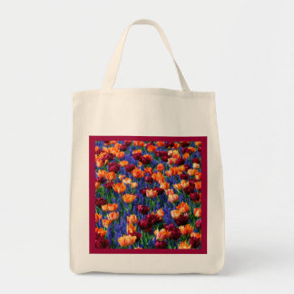 Hyacinth Tulip Garden Cotillion Reusable Tote Bag