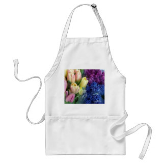 Hyacinth Tulips Adult Apron