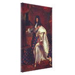 Hyacinthe Rigaud - Portrait of Louis XIV Stretched Canvas Prints