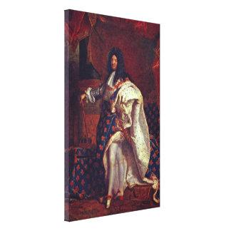 Hyacinthe Rigaud - retrato de Louis XIV Lona Envuelta Para Galerías