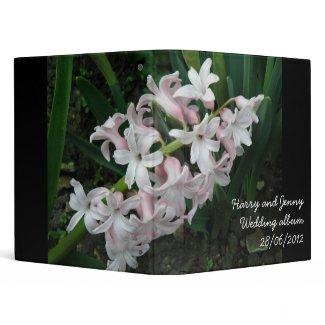 Hyacinths Custom Wedding Album Vinyl Binder