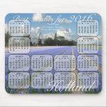 Hyacinths Flowers Fields 2016 Calendar Mouse Pad