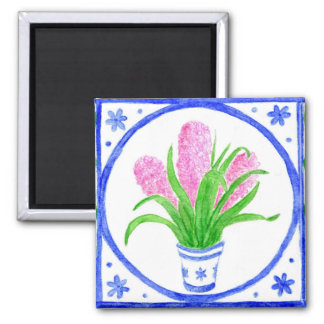'Hyacinths' Fridge Magnet