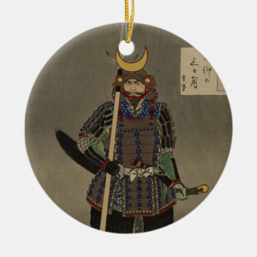 Hyakushi de Tsuki - Akiyama Buemon (1886) Samarai Ornatos