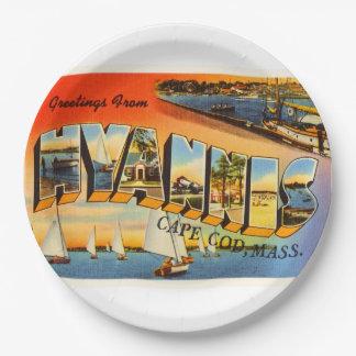 Hyannis Cape Cod Massachusetts MA Travel Souvenir Paper Plate