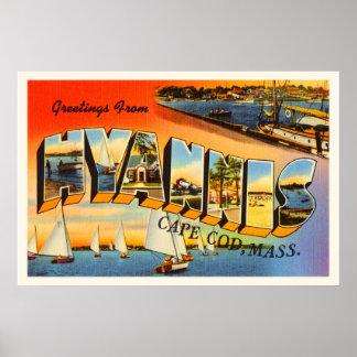 Hyannis Cape Cod Massachusetts MA Travel Souvenir Poster