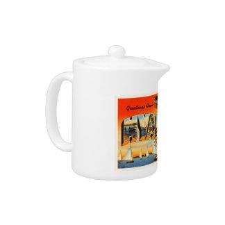 Hyannis Cape Cod Massachusetts MA Travel Souvenir Teapot