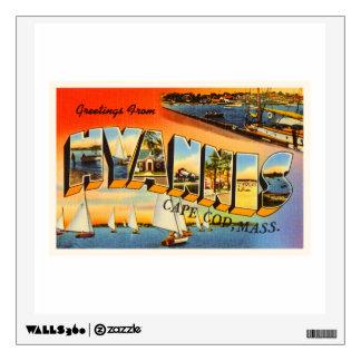 Hyannis Cape Cod Massachusetts MA Travel Souvenir Wall Decal