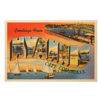 Hyannis Cape Cod Massachusetts MA Travel Souvenir Wood Wall Art