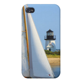 Hyannis Harbor Lighthouse Sailboat Cape Cod iPhone 4/4S Cover