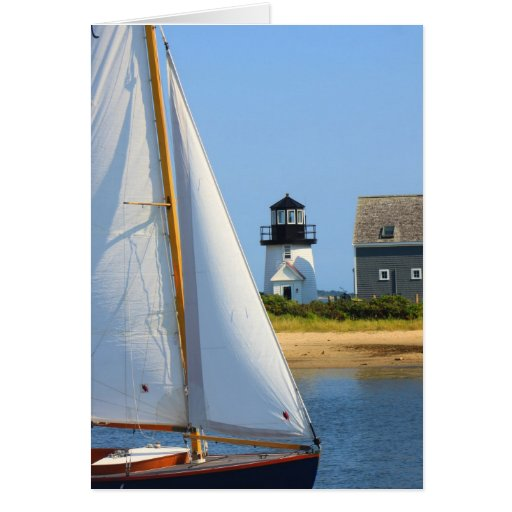 Hyannis Lighthouse and Sailboat Cards
