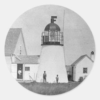 Hyannis Lighthouse Classic Round Sticker