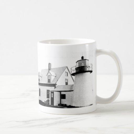 Hyannis lighthouse classic white coffee mug