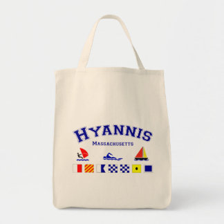 Hyannis Signal Flag Grocery Tote Bag