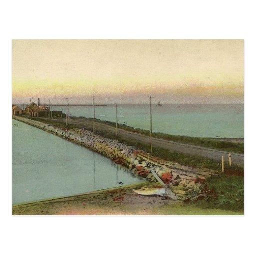 Hyannis Wharf Vintage Postcard