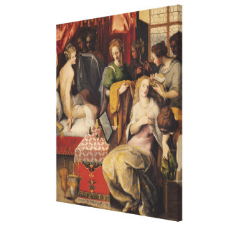 Hyante and Climene at their Toilet Canvas Print