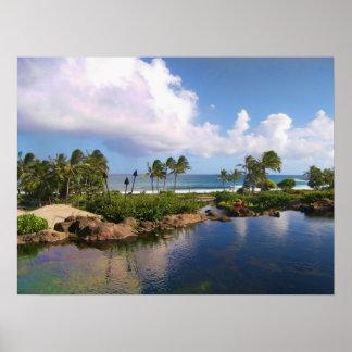 Hyatt magnífico Luau - isla de Kauai Póster