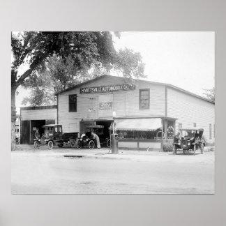 Hyattsville Auto Company, 1920. Vintage Photo Poster
