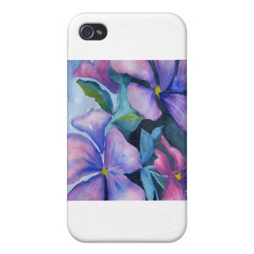 Hybiscus púrpura iPhone 4 fundas
