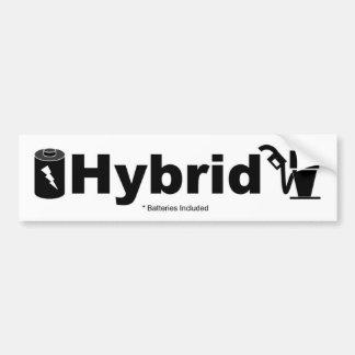 HYBRID batteries included Car Bumper Sticker