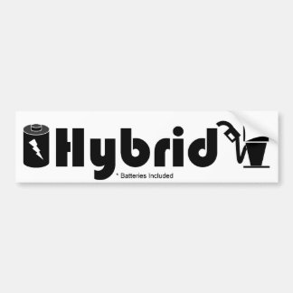 HYBRID batteries included pump and battery Bumper Sticker