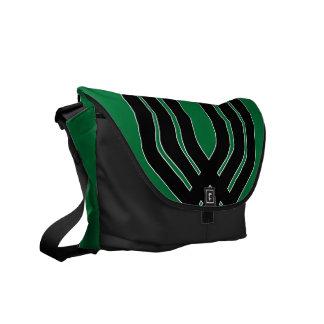 Hybrid Black (Green) Messenger Bag