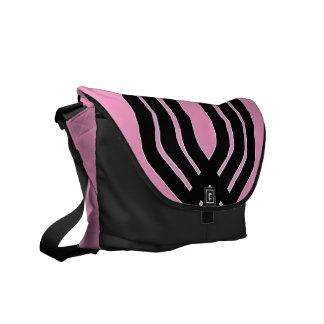 Hybrid Black (Pink) Messenger Bag