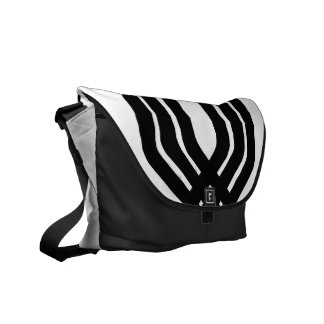 Hybrid Black (White) Messenger Bag