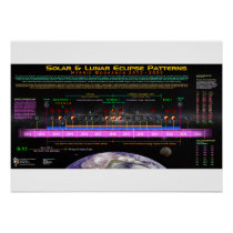 Hybrid Bookend Eclipse Pattern Poster