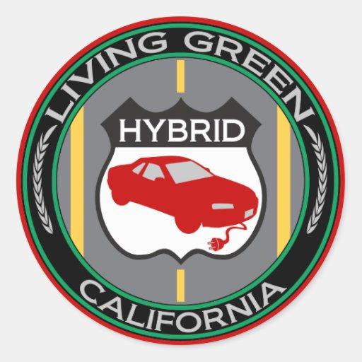 Hybrid California Round Sticker