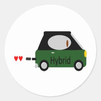 Hybrid Car Classic Round Sticker