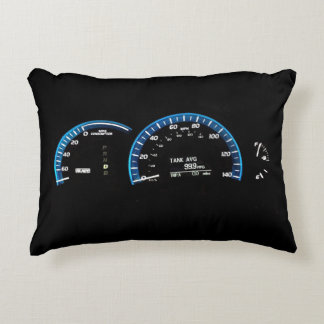 Hybrid Car Instrument Cluster Accent Pillow
