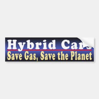 Hybrid Cars Save Bumper Sticker