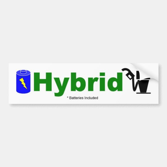 HYBRID colorful pump and battery included Bumper Sticker