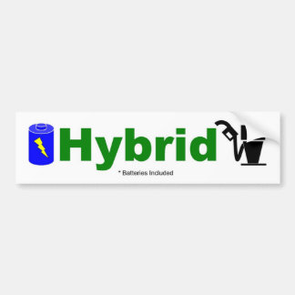 HYBRID colorful pump and battery included Car Bumper Sticker