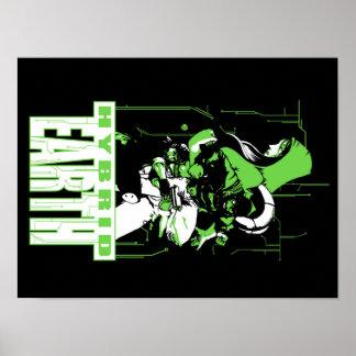 "Hybrid Earth Trio: 16"" x 20 Poster"