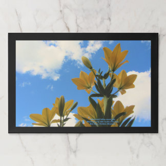 Hybrid Gold Yellow Asiatic Lily Paper Placemat