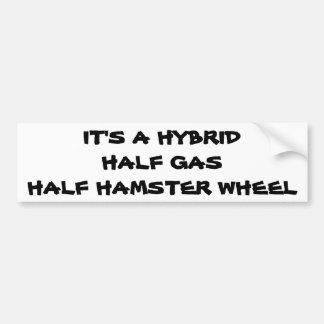 Hybrid: Half Gas Half Hamster Wheel Bumper Sticker