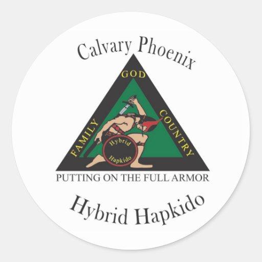 Hybrid Hapkido Club Large Stickers