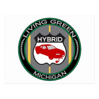 Hybrid Michigan Postcard