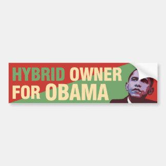 Hybrid Owner for Obama - Political Bumper Sticker Car Bumper Sticker