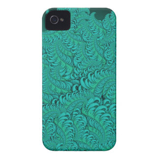 Hybrid Skin Green Abstract Fractal Pattern Case iPhone 4 Case
