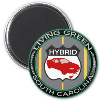Hybrid South Carolina 2 Inch Round Magnet