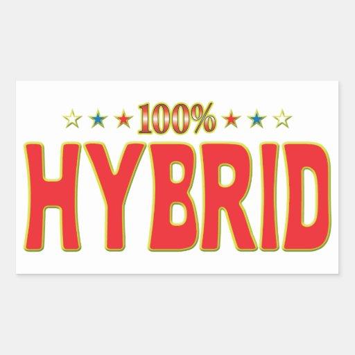 Hybrid Star Tag Rectangular Sticker