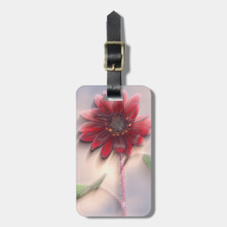 Hybrid sunflower blowing in the wind luggage tag