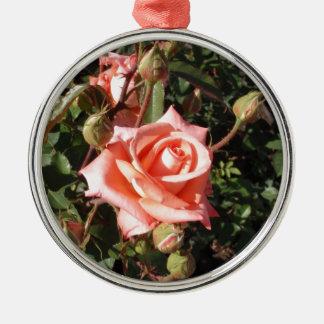 Hybrid Tea Rose Metal Ornament