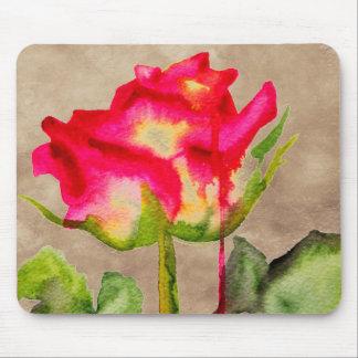 Hybrid Tea Rose watercolour modern flower art Mouse Pad