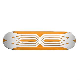 Hybrid White (Orange) Skateboard Deck