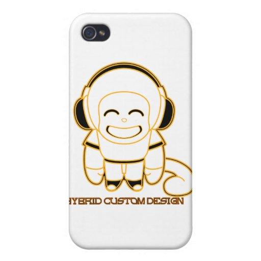 hybridcustom design music monkey iPhone 4/4S cases